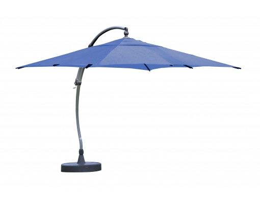 Sun Garden - Easy Sun cantilever parasol Square without flaps - Olefin Petroleum Blue canvas