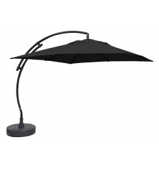 Sun Garden - Easy Sun cantilever parasol Square without flaps - Olefin Carbone canvas