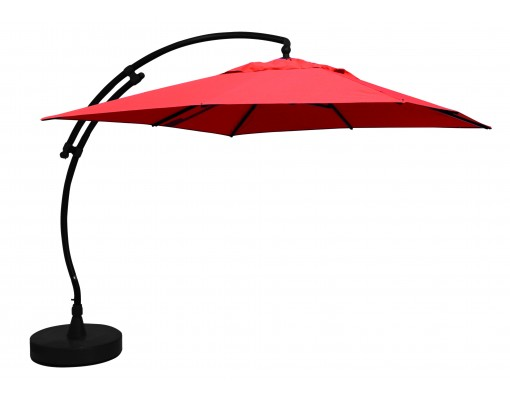 Sun Garden - Easy Sun cantilever parasol Square without flaps - Olefin Terracotta canvas