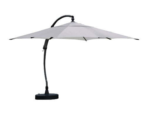 Sun Garden - Easy Sun cantilever parasol Square without flaps - Polyester Grey canvas