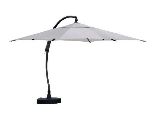Parasol déporté Sun Garden - Easy Sun carré sans volants - toile Polyester Gris