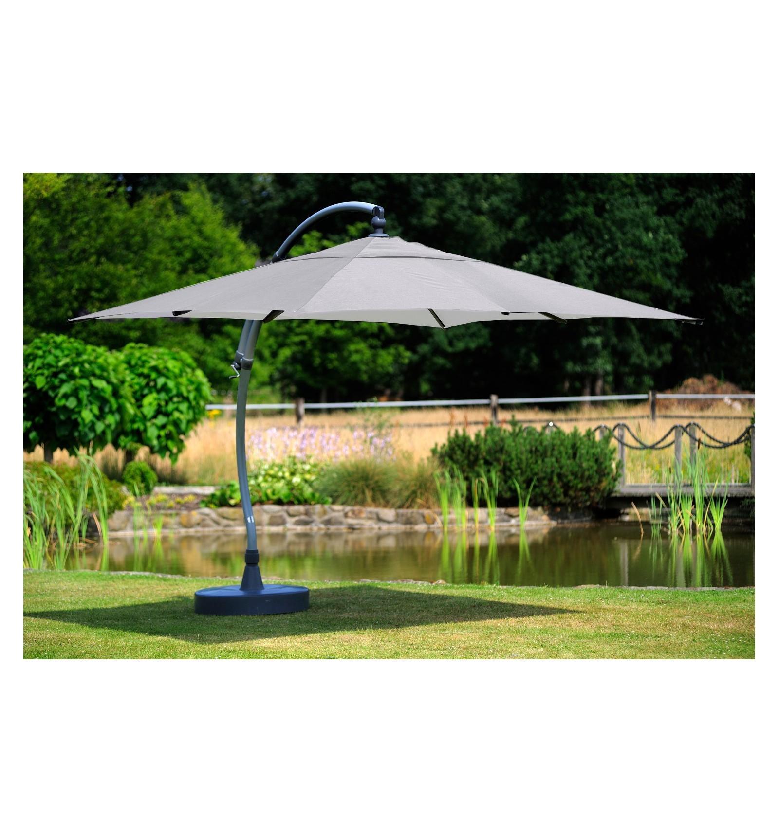 Parasol Sun Garden Easy 320 Square Grey Polyester Sc 1 St