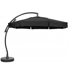 Sun Garden - Easy Sun cantilever parasol Classic with flaps - Olefin Carbone canvas