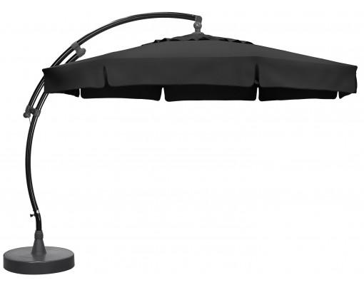 Parasol déporté Sun Garden - Easy Sun classique avec volants - toile Olefin Carbone