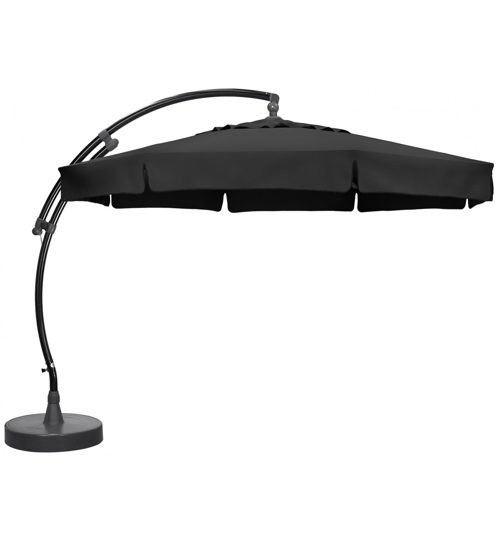 parasol d 233 port 233 sun garden easy sun classique avec volants toile olefin carbone