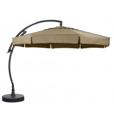 Sun Garden - Easy Sun cantilever parasol Classic with flaps - Olefin Taupe canvas