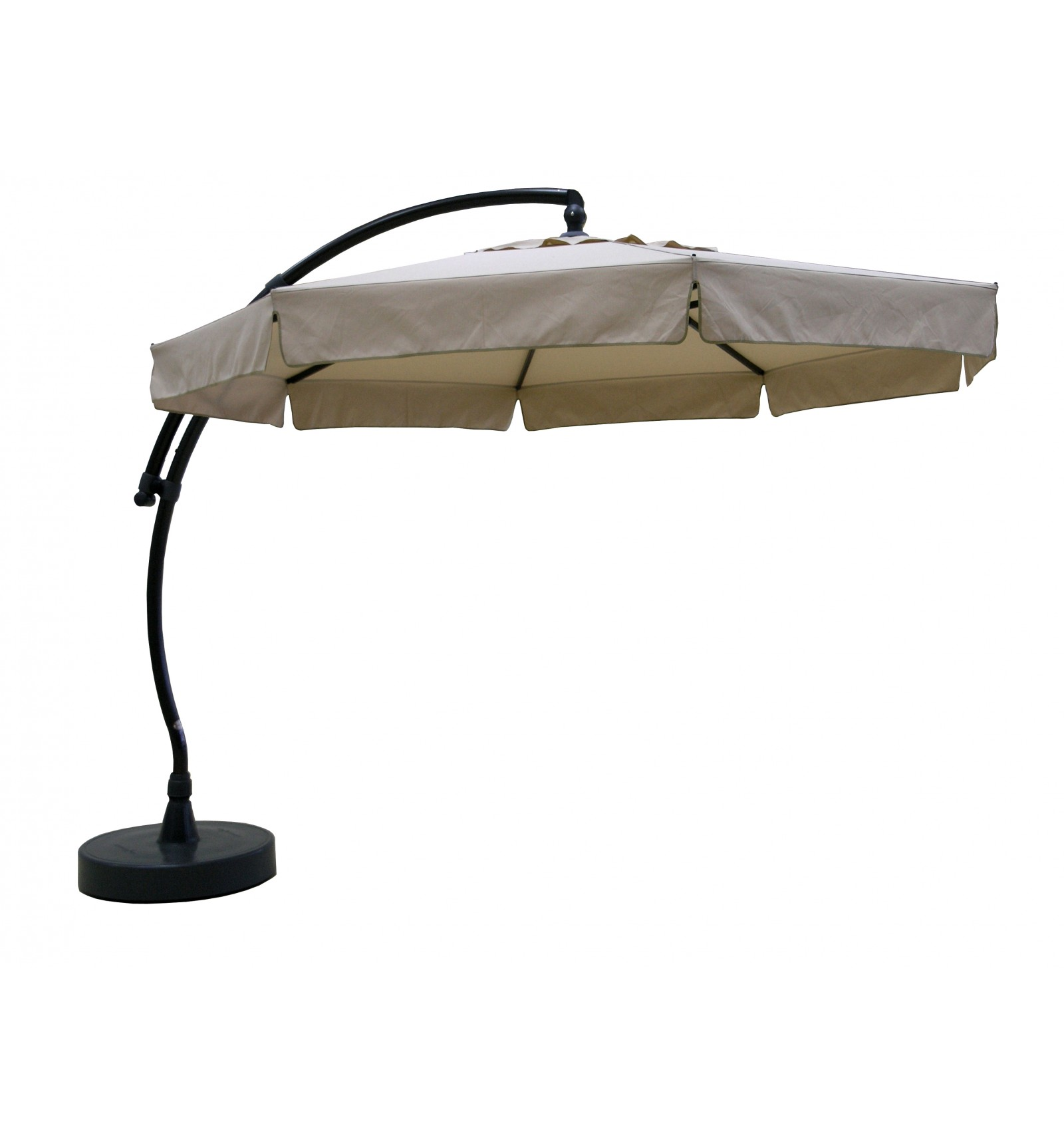 sun garden easy sun cantilever parasol classic with flaps olefin light taupe canvas. Black Bedroom Furniture Sets. Home Design Ideas