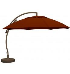 Parasol déporté Sun Garden - Easy Sun rond XL sans volants - toile Olefin Bordeaux