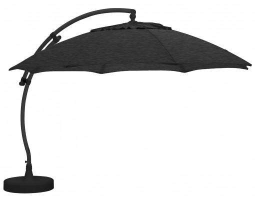 Sun Garden - Easy Sun zweefparasol XL Rond zonder flappen - Olefin Carbone doek