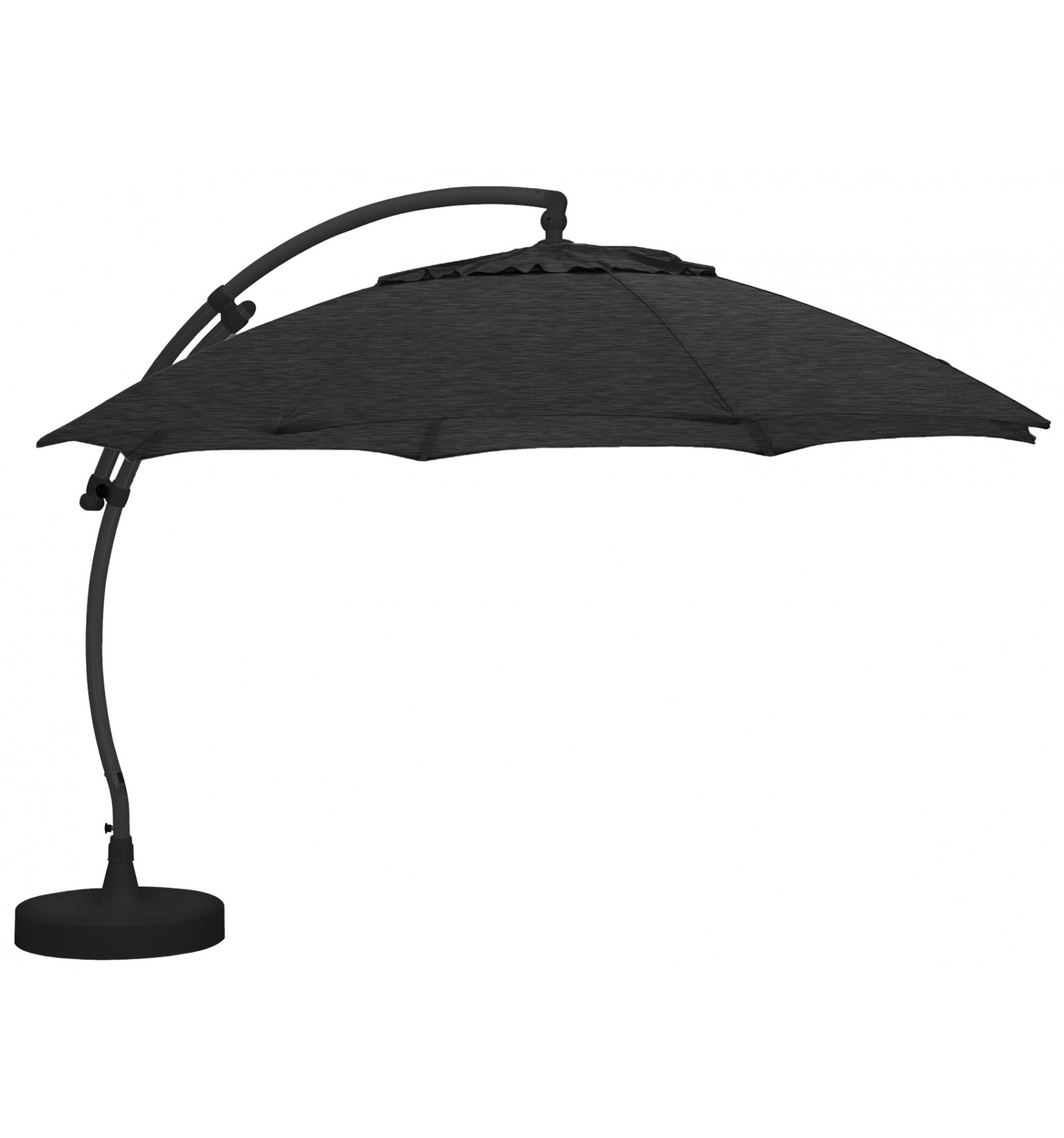 parasol d port easy sun rond xl sans volants carbone. Black Bedroom Furniture Sets. Home Design Ideas