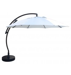 Sun Garden - Easy Sun cantilever parasol XL Round without flaps - Olefin light Grey canvas