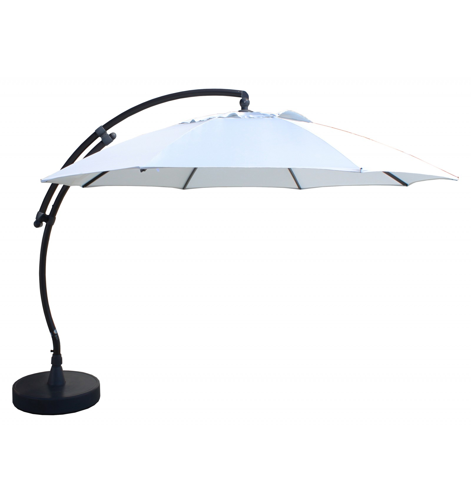 Parasol déporté Sun Garden - Easy Sun rond XL sans volants ...