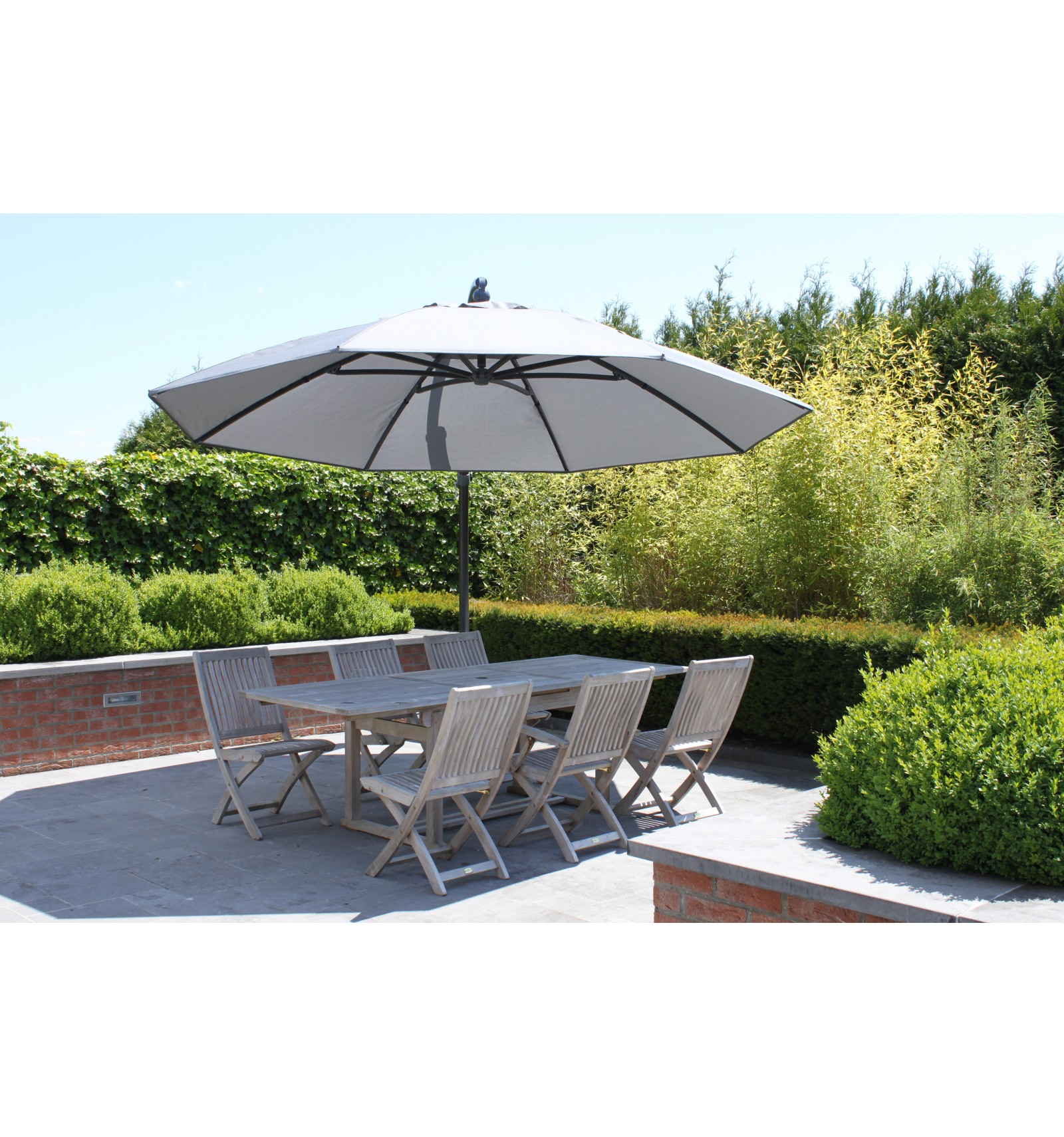 sun garden easy sun cantilever parasol xl round without. Black Bedroom Furniture Sets. Home Design Ideas
