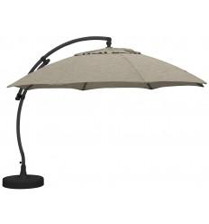 Parasol déporté Sun Garden - Easy Sun rond XL sans volants - toile Olefin Taupe