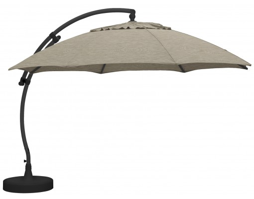 Sun Garden - Easy Sun cantilever XL Round without flaps - Olefin Taupe canvas