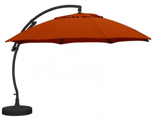 Sun Garden - Easy Sun zweefparasol XL Rond zonder flappen - Olefin Terracotta doek