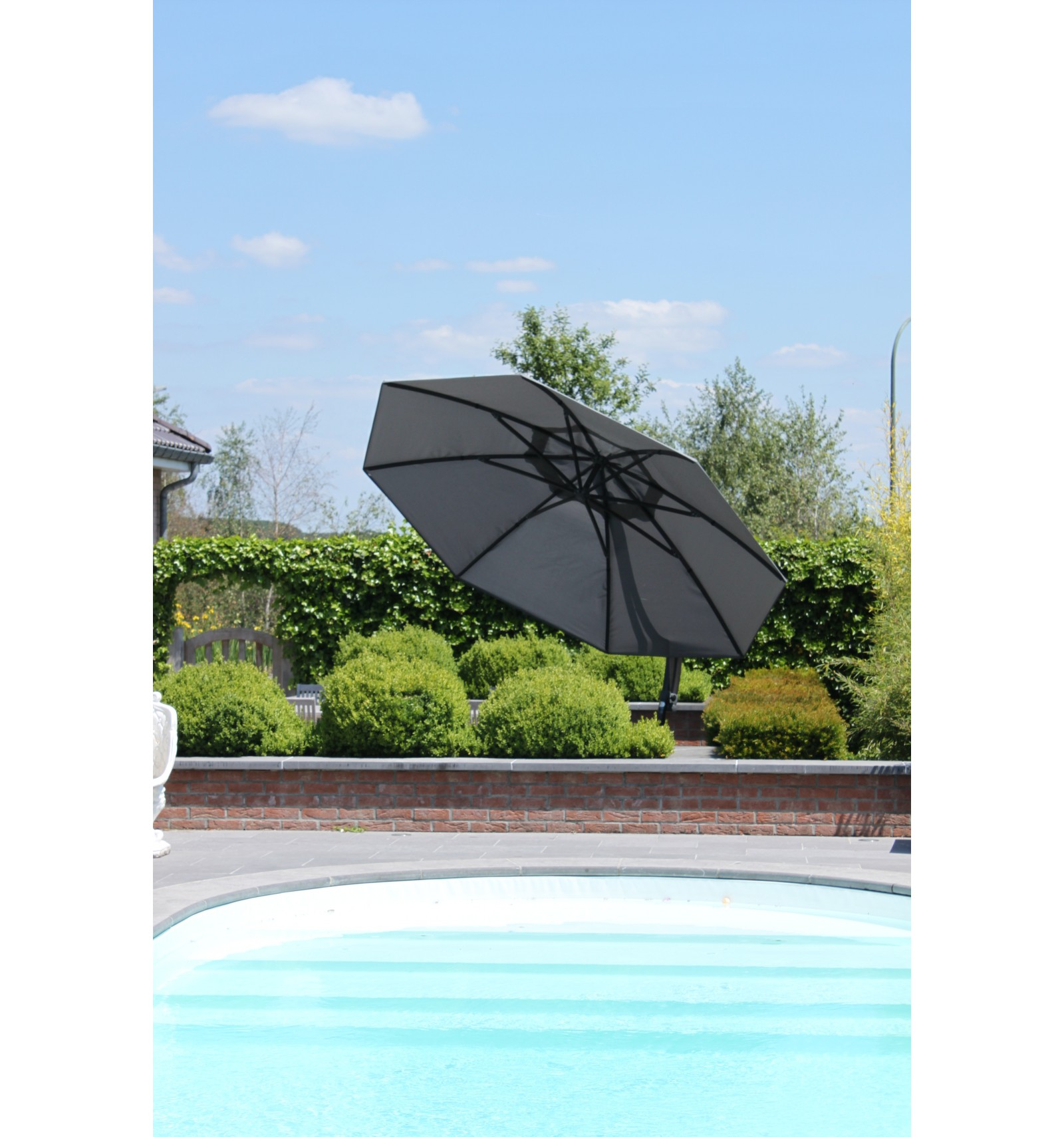 sun garden easy sun xl olefin titanium parasol. Black Bedroom Furniture Sets. Home Design Ideas