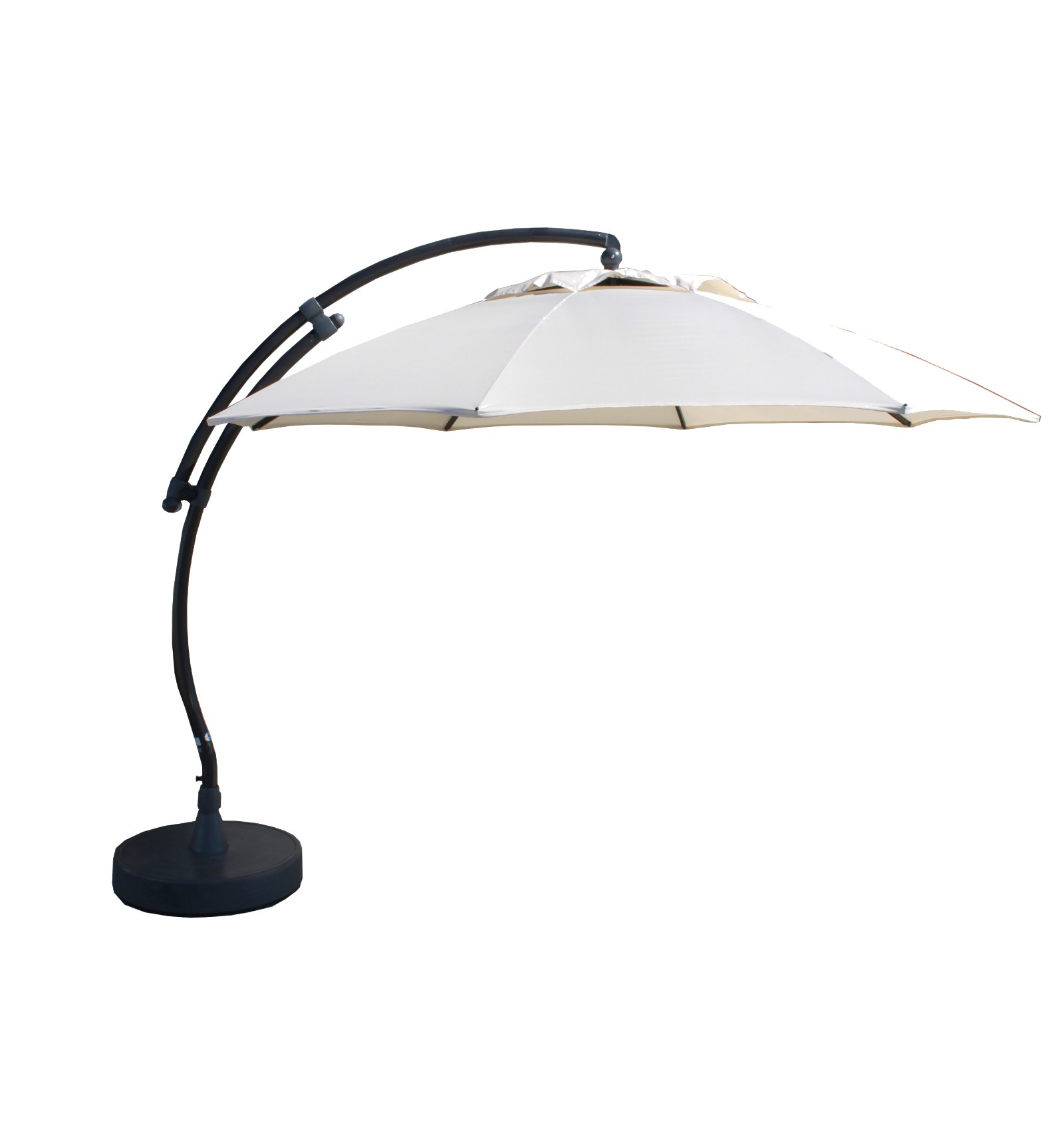 Attractive Sun Garden   Easy Sun Cantilever Parasol XL Round Without Flaps   Polyester  Beige Canvas ...