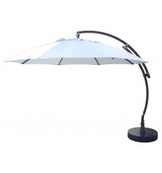 Sun Garden - Easy Sun cantilever parasol XL Round without flaps - Polyester Grey canvas
