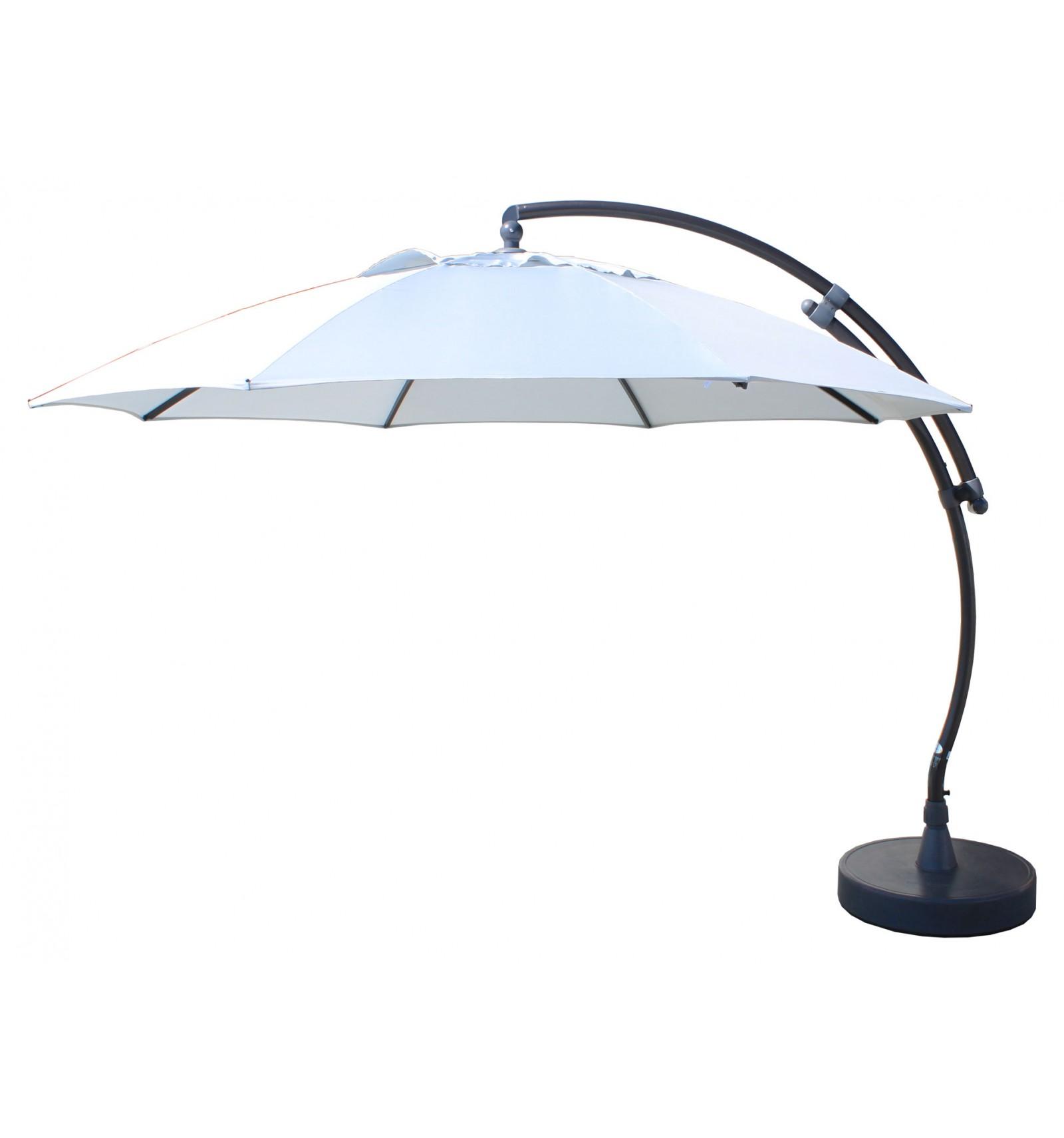 Perfect Sun Garden   Easy Sun Cantilever Parasol XL Round Without Flaps   Polyester  Grey Canvas ...