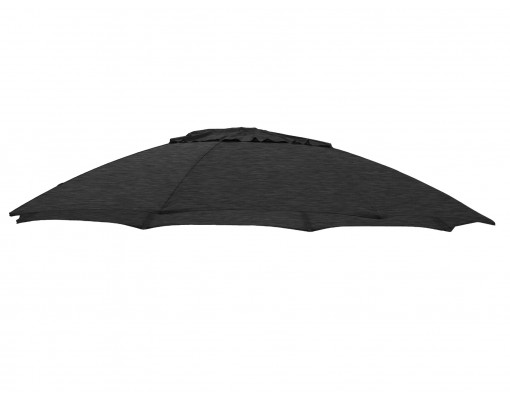 Toile de remplacement Anthracite en Olefin pour parasol Easy Sun 375