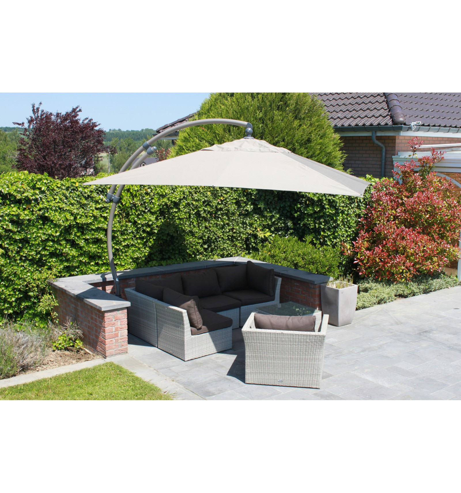 ... Olefin Replacement Canvas For Easy Sun Parasol 320, Light Taupe