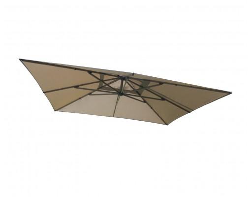 Toile de remplacement Taupe en Olefin pour parasol Easy Sun 320