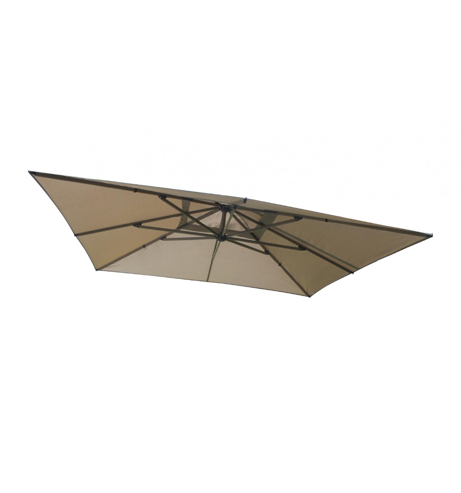 toile de remplacement taupe en olefin pour parasol easy sun 320. Black Bedroom Furniture Sets. Home Design Ideas
