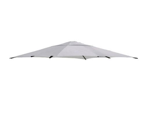 Toile de remplacement Gris en Polyester pour parasol Easy Sun 320