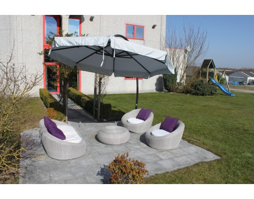 Olefin replacement canvas for Easy Sun parasol 350, light anthracite