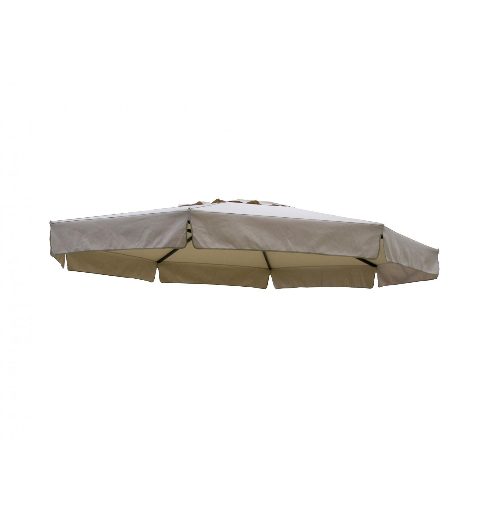 toile de remplacement taupe clair en olefin pour parasol. Black Bedroom Furniture Sets. Home Design Ideas