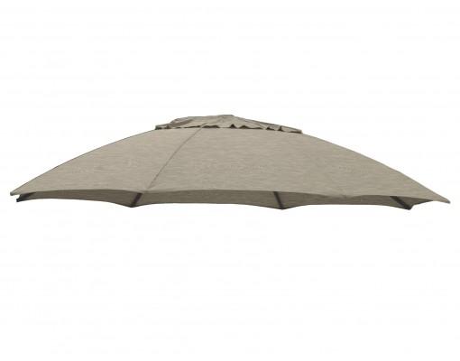 Toile de remplacement Taupe en Polyester pour parasol Easy Sun 375