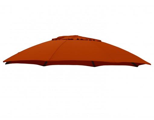 Toile de remplacement Terracotta en Polyester pour parasol Easy Sun 375