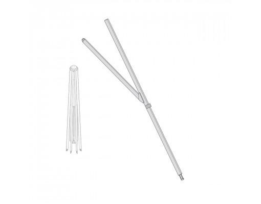 Short white rib for Easy Sun - Sun Garden parasol