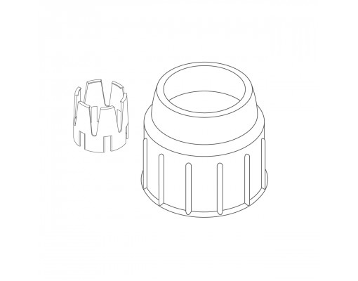 clamp nut + universal reduction ring WHITE