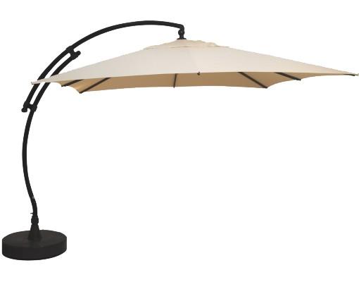 Parasol déporté Sun Garden - Easy Sun carré sans volants - toile Olefin Beige