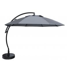 Parasol déporté Sun Garden - Easy Sun rond XL sans volants - toile Olefin Titanium