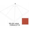Toile de remplacement Terracotta en Olefin avec volants pour parasol Easy Sun 320