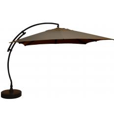 Parasol déporté Sun Garden - Easy Sun carré sans volants - toile Olefin Taupe