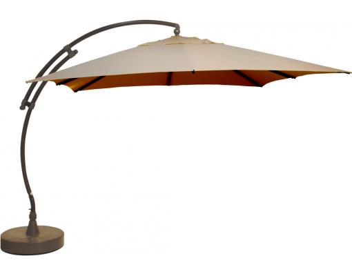 Parasol déporté Sun Garden - Easy Sun carré sans volants - toile Olefin Taupe CLAIR