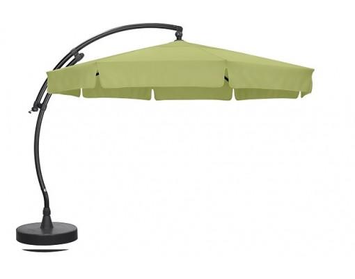 Parasol déporté Sun Garden - Easy Sun classique avec volants - toile Olefin Vert Olive