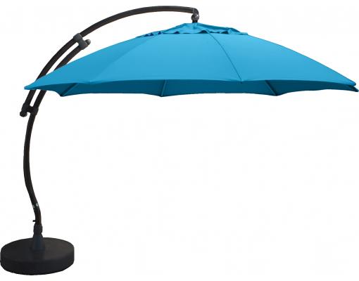 Parasol déporté Sun Garden - Easy Sun rond XL sans volants - toile Olefin leu pétrole