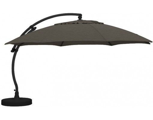 Parasol déporté Sun Garden - Easy Sun rond XL sans volants - toile Olefin Chocolat