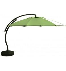 Parasol déporté Sun Garden - Easy Sun rond XL sans volants - toile Olefin Vert Olive