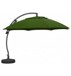 Parasol déporté Sun Garden - Easy Sun rond XL sans volants - toile Olefin Vert Forêt