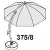 POUR XL 375! Kit de baleines complet anthracite pour parasol Sun Garden Easy Sun