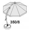 Kit de baleines 350 complet blanc pour parasol Sun Garden Easy Sun