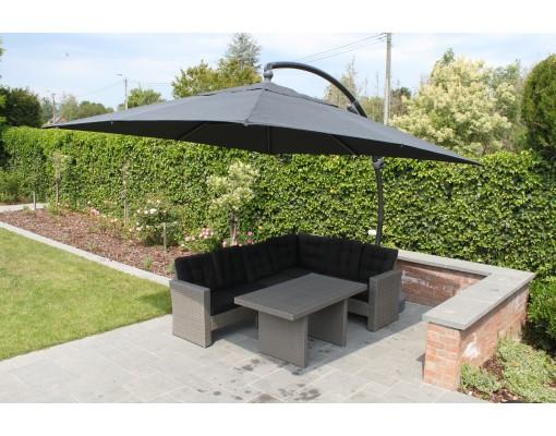 Parasol déporté Sun Garden - Easy Sun 320 carré sans volants - toile Olefin Chocolat