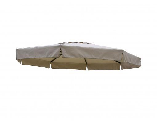 Toile de remplacement taupe en Polyester pour parasol Easy Sun 350