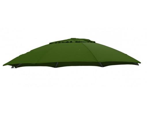 Toile de remplacement vert foncé en Olefin pour parasol Easy Sun 375
